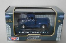 1956 BLUE FORD F-100 PICKUP MOTORMAX 1:87 HO SCALE DIE-CAST VEHICLE
