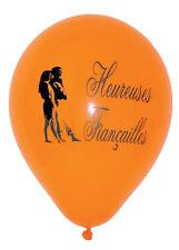 """10 ballons de baudruche """"Heureuses Fiançailles"""" multicolore decoration de salle"""