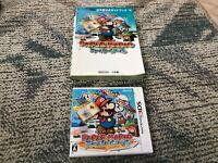 Paper Mario Super Seal Nintendo 3DS Japan with Guidebook