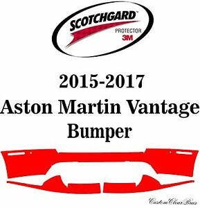 3M Scotchgard Paint Protection Film Clearbra 2015 2016 2017 Aston Martin Vantage