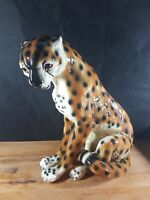 CHEETAH VINTAGE FIGURINE QUITE LARGE AND HEAVY POSSIBLY ITALIAN