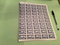 Spain 1944 stamps part sheet  stains sent folded  Ref 51060