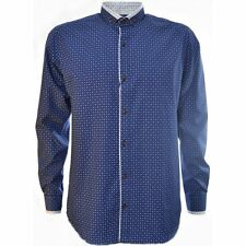 Guide London Navy Flower Pattern Long Sleeve Shirt