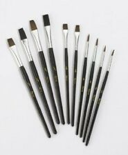 qualité Artiste Peinture Brush Set Lot de 10 naturel poil Art fabrication Harris