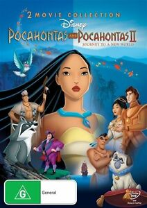 DVD DISNEY POCAHONTAS + POCAHONTAS II TO A NEW WORLD BRAND NEW FACTORY SEALED