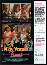NEW YORK'S FINEST__Original 1988 Trade print AD promo__VERONICA HART_RICK SAVAGE