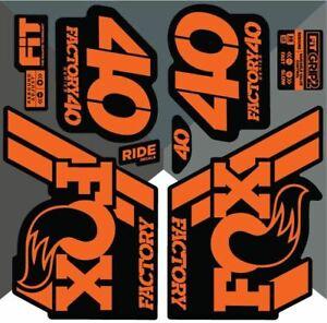 Fox 40 2018 Decals/Stickers - Orange