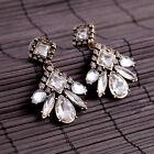 Boucles d`Oreilles Clous Pendante Abeille Crystal Class Vintage Mariage AA 4