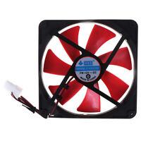 1pc 140mm pc case cooling fans 14cm DC 12V 4D plug computer cooler Cooling  li