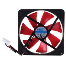 1pc 140mm pc case cooling fans 14cm DC 12V 4D plug computer cooler Cooling FaRR
