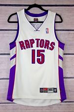 Vince Carter Size 40 Authentic Nike Toronto Raptors Dri-Fit White Jersey M Med