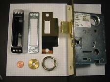 BALDWIN  #6150.003 MORTISE DEADLOCK, POLISHED BRASS, WITHOUT CYLINDER