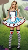 Adult Ladies Woman Alice in Wonderland Fancy Dress Costume Size 6 8 10 12 14 16