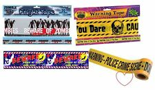 20FT Halloween Decoration Banner Scary Tape Fright Long Caution Crime Scene