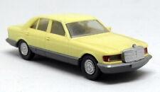 Herpa 1/87 HO Scale - Mercedes Benz 500 SE Cream Tiny Plastic Model Car