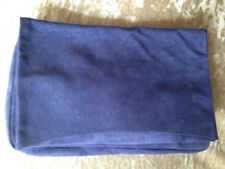 PIECES Twilight BLUE Flap Over SUEDE CLUTCH BAG New