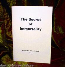 THE SECRET OF IMMORTALITY Donald Peake  Finbarr Occult Magick. Grimoire. Magic