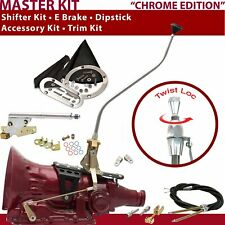C4 Shifter Kit 23 Swan E Brake Cable Clevis Trim Kit Dipstick For D1FE6