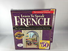 Learn to Speak French 7.0(3 CD-ROM/Win98/95)The Learning Company GREAT CONDITION