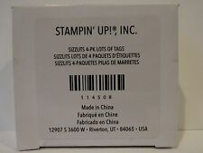 Stampin Up LOTS OF TAGS Sizzix Sizzlits NEW pack of 4