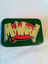 MY WORD Fast Flipping! ORIGINAL Card Game Tin Can Interactive Learning NEW!