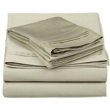 3-pc Twin 100% Egyptian Cotton Sage Sheet Set Triple Pleated Hem