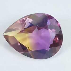 1.80 Cts Natural Earthmined Ametrine Bi Color Pear Shape Gemstone From Brazil