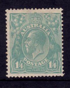 Australia KGV Head CofA Wmk - 1/4 Turquoise Mint SG 131