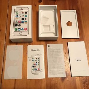 Apple iPhone 5s Silver 16GB BOX, INSERT, STICKERS, PLASTIC HOLDERS, NO PHONE