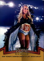 2018 Topps WWE Women's Division Evolution Gold #RAW-1 Charlotte Flair 10/10