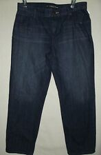 EXPRESS 6 LOW RISE CROP WHISKERED JEANS whiskering womens