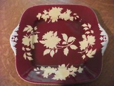 Wedgwood unfinished Ruby Tonquin bone china square handled cake plate