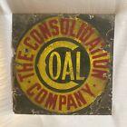 RARE Antique Porcelain Enamel Advertising Sign Consolidation Coal Company