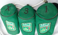3 MCI Classic The Heritage Of Golf HeadCovers Club Cover Green Fairway Belding X
