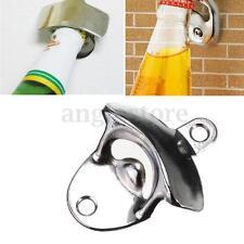Metal Wall Mount Kitchen Wine Beer Soda Glass Cap Bottle Opener Tool Anti-rust