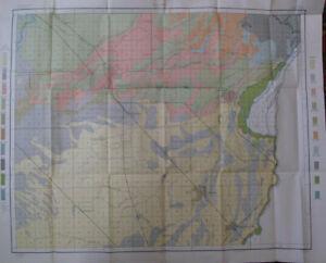 Color Soil + Alkali Map Fresno Sheet California Selma Kingsburg Sanger CA 1900