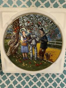 Lot of 4 - The Wizard of Oz, 50th Anniversary Hamilton Collector Plates