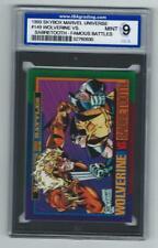 1993 SKYBOX MARVEL UNIVERSE WOLVERINE vs SABRETOOTH #149 GRADED CARD ISA 9