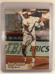 ROGER FEDERER 2003 NETPRO GLOSSY ROOKIE CARD (RC) #G-11 TENNIS LEGEND!