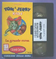 VHS Ita Animazione Grandi Cartoni 6 TOM & JERRY KIDS La Grande Corsa no dvd(V161