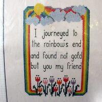 Bucilla Counted Cross Stitch Sampler Rainbows End Designed by Vanessa-Ann
