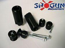 Yamaha 2009-14 YZF-R1 Shogun Frame Slider Kit w/ Spools + Bar Ends Cut Black