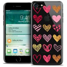 """Coque Crystal Gel Pour iPhone 7 (4.7"""") Extra Fine Souple Sweetie Doodling Hearts"""