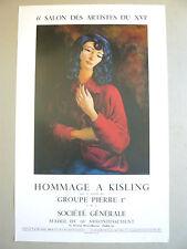 KISLING Moïse Affiche originale 88 Femme Cracovie Montparnasse Ecole de Paris