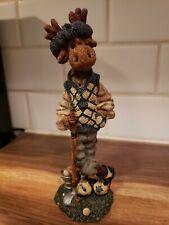 "Boyds Bears Golf Moose Ziggy The Duffer Folkstone Collection 1997 Figurine 8"""