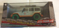 Greenlight 1:43 2015 Jeep Wrangler Unlimited Gulf Off-Road Bumpers GREEN MACHINE