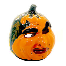 """Large 9"""" Talavera Pumpkin Hand-Painted Mexican Pottery Home Garden 280"""