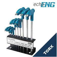 Serie set chiavi TORX 9 pz impugnatura T Cromo Vanadio con supporto UM 20 ST00