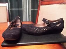 Earth: Bella Earthies Black size 9 comfort strap mary jane lolita suede