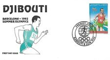 DJIBOUTI 1992  FIRST DAY COVER, SUMMER OLYMPICS BARCELONA